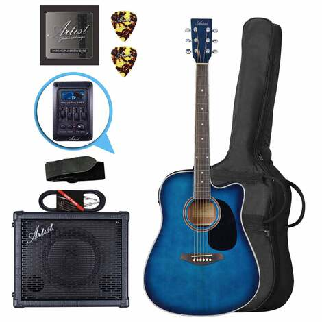 Artist LSPCEQTBB Acoustic Electric Pack with EQ + BSK20 Amp and Lead