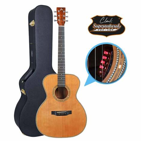 Artist OMC500SN Solid Wood Acoustic with Supernatural Preamp