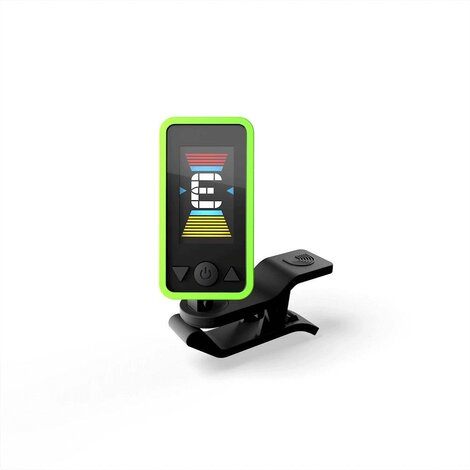Planet Waves CT17 Eclipse Clip-on Chromatic Guitar Tuner Green