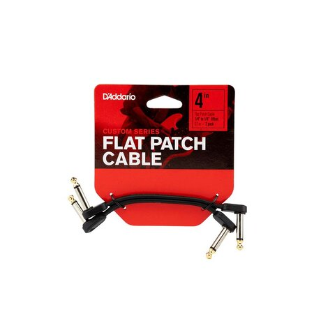 D'Addario PWFPRR204OS Custom Series 4 In Patch Cable Right-Angle