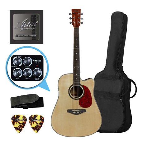 Artist LSPFXNT Acoustic-Electric Guitar w/ FX and speaker