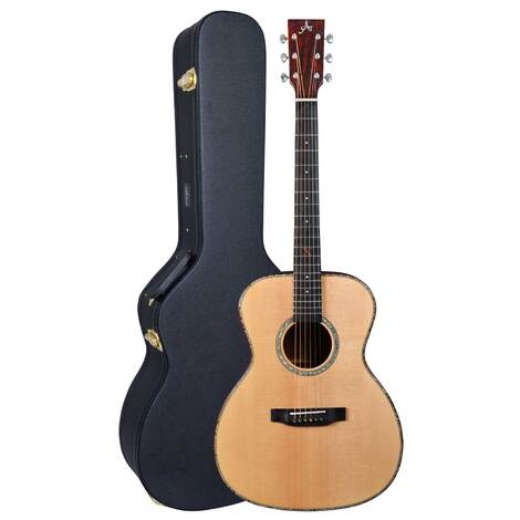 Artist OMS30EQ Solid Wood OM Size Acoustic w/ Preamp + Hard Case