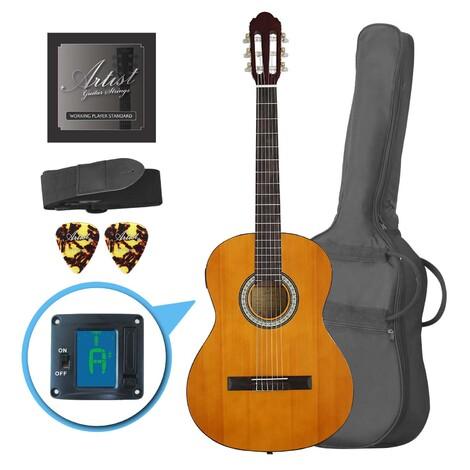 Customer Returned Artist CL44SPKAM Full Size Classical Guitar Pack, Nylon, Slim Neck