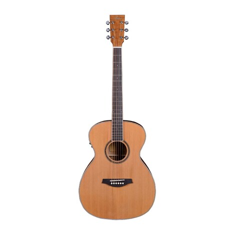Customer Returned Artist OMC200EQ Solid Top Acoustic Guitar OM Size with EQ